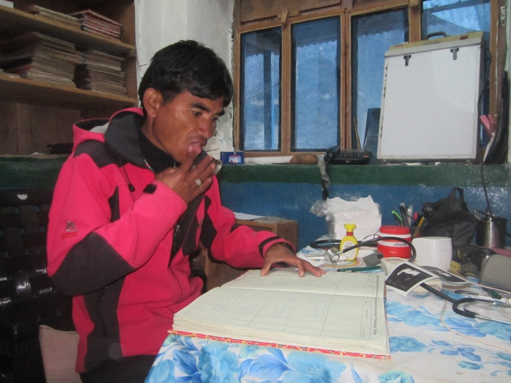 Photo 14. Illegal Jaljala Community Health Centre Rural Health Research Institute Thaabang Rolpa  Managing Director Ratan Jhakri.